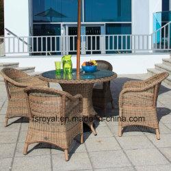 Exterior moderno jardín muebles de ratán sillón de mimbre de resina de la mesa de comedor Set