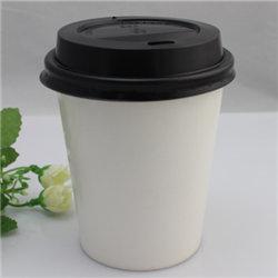 8 унции одноразовые Food Grade колебания кривой на стене горячей бумаги чашки с белой пластиковой крышки