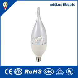 최고의 Exporter Factory 수출 CE UL Saso Energy Saving Dimmable 4.5W 7W E12 LED Candle Light Made in China for Living, Kithchen, Bed Room, Dining Room Lighting