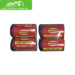 Размер D Winpowa 1,5 R20p батарей Цинк сухой батареи Eveready углерода