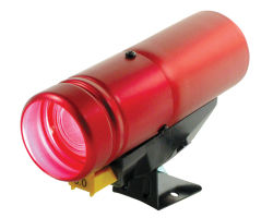 PRO rpm de la luz de cambio de la Plata caso LED rojo (7011SS)