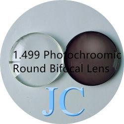 1.499 de ronde Bifocale Hars van de Vorm/Lens 70/28mm van het Glas met Goedgekeurde ISO/FDA/Ce
