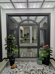 Aluminium&#160をカスタム設計しなさい; 二重ガラスが付いている標準的で黒い開き窓のWindowsの居間