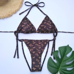 디자이너 비키니 유명 상표 섹시한 숙녀 삼각형 인쇄 수영복