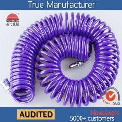 油圧ホース空圧式 PU コイルエアパイプホース( KS-1065-9M )紫