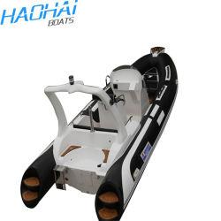 RIB 580 زورق مطاطي في فيبرجلاس الرياضة استخدم قوارب الصيد مع الكهربائية الموتور