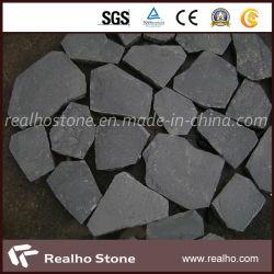 prix d'usine Irregualr Zhangpu basalte noir de galets pour l'asphaltage de pierre