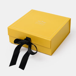OEM 자석 마감을%s 가진 주문 로고 황색 접을 수 있는 모자 엄밀한 단화 마분지 선물 접히는 상자