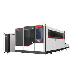 CNCは15000Wベッドのファイバーレーザーのカッターにひびデスクトップのガントリーによって取付けられた水冷却連続的なレーザーの鋼板平らな金属板1000Wを制御した