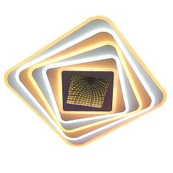 Горячая продажа 2.4G затемнение светодиодный потолочный светильник с пультом дистанционного управления площади с 3D оформление зеркал голубой/пурпурный эффект