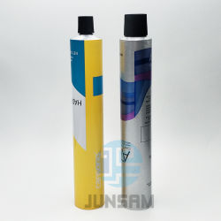Max 6c tubo flexível de alumínio branco passíveis de embalagens de metal Tampa cilíndrico de plástico cremes cosméticos