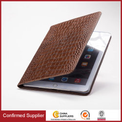 Standaard Tablet Crocodile patroon zakelijke kaartsleuven Smart lederen hoes Voor iPad Air/Mini /PRO10.5