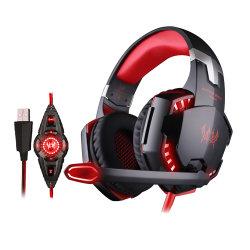 RGBの照明音楽ヘッドホーンのコンピュータ・ゲームのヘッドセットのゲームのヘッドホーンが付いているベストセラーの製品USBの賭博のヘッドセットのヘッドホーン
