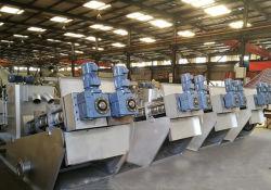 La deshidratación de lodos de prensa de tornillo para la industria textil