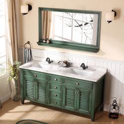 Commerce de gros rasage vert moderne salle de bains de rétroviseurs de porte de la vanité de l'obturateur avec dosseret (ACS1-W129)