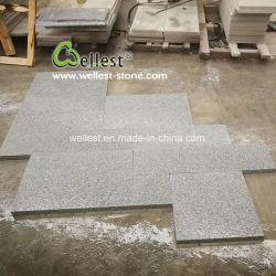 Flammé terminer en granit gris clair modèle français de tuiles de plancher