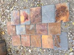 Surface de fractionnement naturelles Rusty Pierre de la culture de l'Ardoise /toits de tuiles pour les revêtements de sol