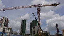 Qtp315 (TCT7530-20)トップレスの構築の建物のタワークレーン