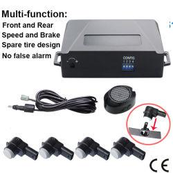 No hay falsa alarma de coche copia de seguridad inalámbrica sensores de parking blanco