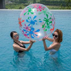 팽창식 PVC Eco-Friendly 물 실행은 투명한 비치 볼을