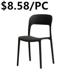 椅子を食事しているプラスチック屋外の余暇のオフィス交渉のツルのバッチ発見