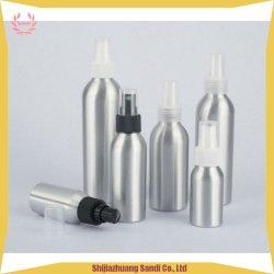 Bottiglie di alluminio d'argento con spruzzo di plastica nero con stampa