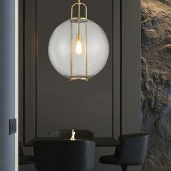 Европейский Современный минималистский творчества люстра гостиной спальня ресторан отеля номер модели купол шарик личности лампа роскошь стекла подвесной светильник