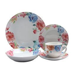 Jantar de porcelana de decoração Definir Ware com conjunto de placa de cerâmica de Certificação da FDA para venda por grosso