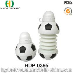 Forma de Fútbol Deporte plegable de plástico de la botella de agua potable (HDP-0395)