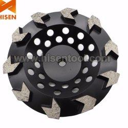 """7"""" конкретные шлифовки алмазов наружное кольцо подшипника колеса с 10 сегментах со стрелками"""