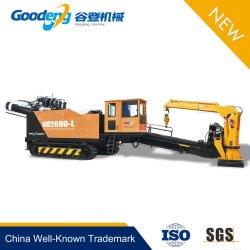Goodeng 260 toneladas de la plataforma de disco duro de perforación direccional horizontal de la máquina para fibra óptica o cable/aceite/sistema de gas