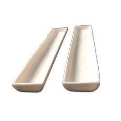 Alumina de Ceramische Trapezoïdale Boot van de Smeltkroes van de Bodem