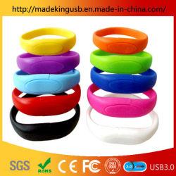 Direto da fábrica Bracelete Personalizado Unidade Flash USB/ Homens e Mulheres Fashion Pulseira Cartão USB