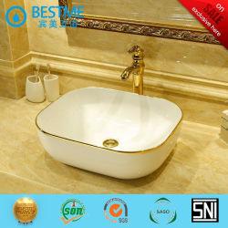 Hygiënische Ware Golden Colour Ceramic Basin Wash Mixer Bc-7034g