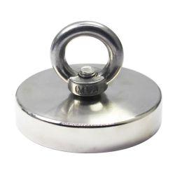 1000 фунта тяговое усилие Мощный круглый неодимовый магнит с утопленное отверстие и болт с проушиной