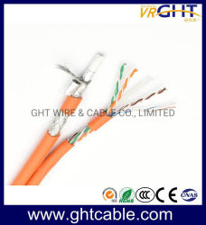 Kabel des Muti-Media Netz-4p Cat5e UTP u. Koaxialkabel RG6