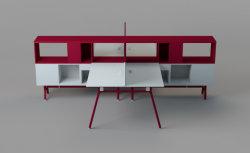أثاث المكاتب مجموعة الطاولة المدمجة للعمل Ylop2-1212p