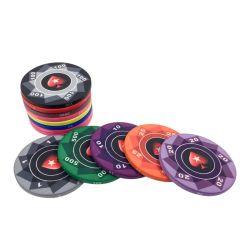 Fabrico de alta qualidade cerâmica personalizado Poker Chips para Casino Gambling