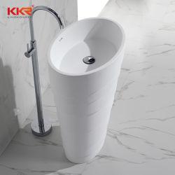 Современный дизайн ванной комнаты Corian акрилового камня пьедестал раковины