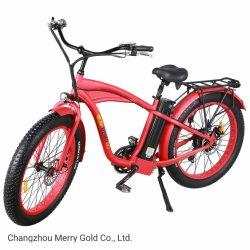 """새로운 26 """" 강력한 뚱뚱한 타이어 48V 500W를 가진 전기 산 바닷가 자전거"""