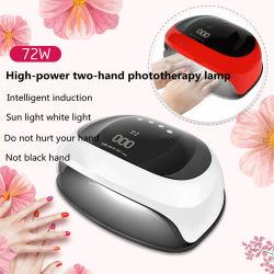 Venta caliente nueva Professional OEM Sol H4 Plus 72W 72 W Secador de uñas de gel de 72W LED UV Nail LÁMPARA DE LED 72W de luz de la uña