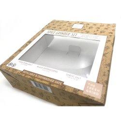 Cadeau de mariage personnalisé d'impression couleur d'emballages recyclés Boîte de papier de fabricants de vêtements Candy avec fenêtre en plastique