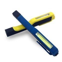 COB bolsillo 3W de forma de lápiz de luz LED de trabajo con imán Clip