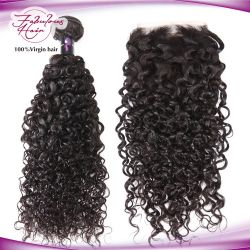 Groothandel 12a Grade Hand Gebonden Maleise Remy Virgin Hair Curly Weft
