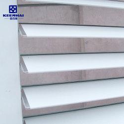 Puerta exterior de aluminio Las persianas de tablillas de parasol