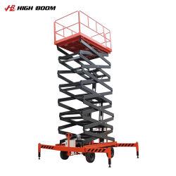 油圧移動移動式Towable上昇の空気作業プラットホームを切るマニュアルを手で押しなさい