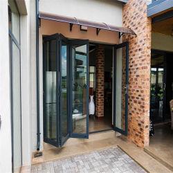 アルミニウム製フレーム、強化ガラス製折りたたみドア付き