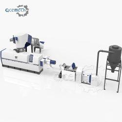 El plástico LDPE/PE/película de BOPP rallar la bolsa de tejido de polipropileno de HDPE y peletización de reciclaje de rectificar los gránulos de la extrusora de doble etapa de una sola máquina de fabricación de pellets