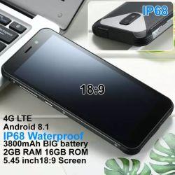Le moins cher de bonne qualité prix d'usine 5.45'' mobile robuste étanche IP68 Smart Phone Mtk Dual Core Android 8.1 GPS téléphone Android Smartphone 4G
