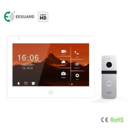 HD 10.1' écran tactile de sécurité à domicile interphone vidéo Intercom Door Phone